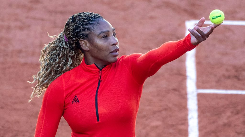 Serena Williams training ahead of the 2020 French Open