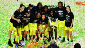 Seattle Storm celebrate 2020 WNBA title