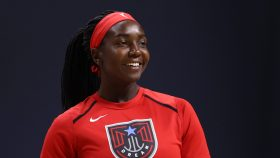 WNBA player Elizabeth Williams of the Atlanta Dream discusses finding her voice and her decision to endorse Rev. Warnock in the U.S. Senate race