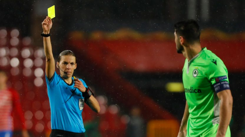 Stéphanie Frappart will serve as the Champions League first female referee
