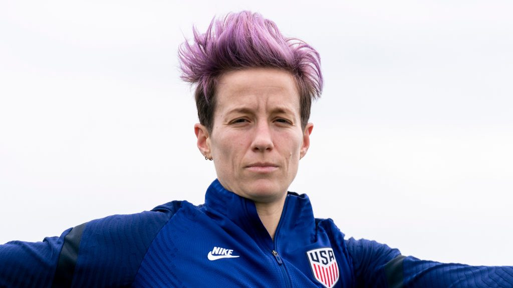 Megan Rapinoe, training here at the 2020 SheBelievesCup, is back with the USWNT after a nine-month break