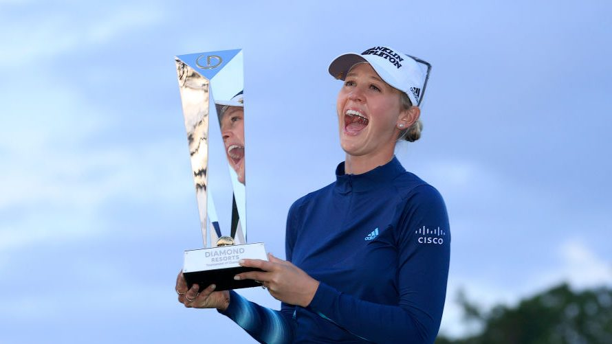 Jessica Korda after winning the Diamond Resorts Tournament of Champions