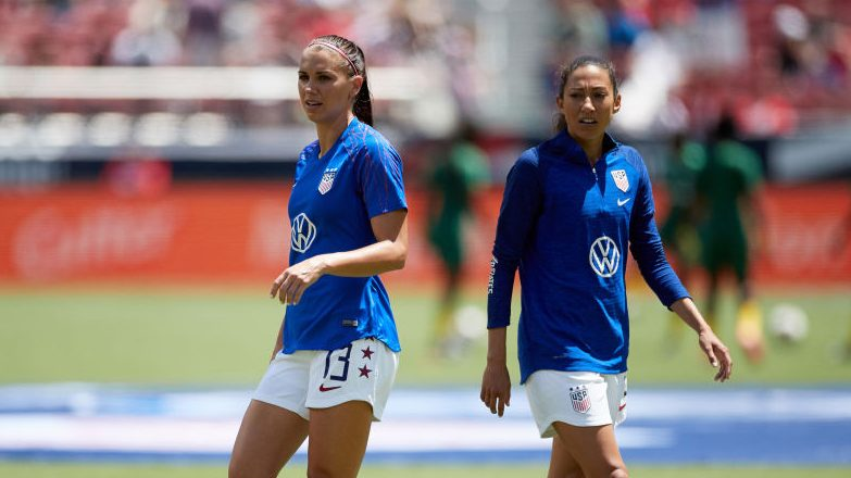 Alex Morgan and Christen Press were named to the U.S. roster for the SheBelieves Cup