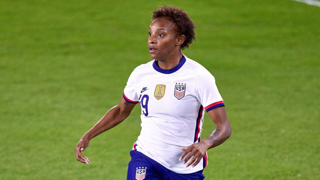 Crystal Dunn of the USWNT