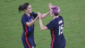 Carli Lloyd and Megan Rapinoe