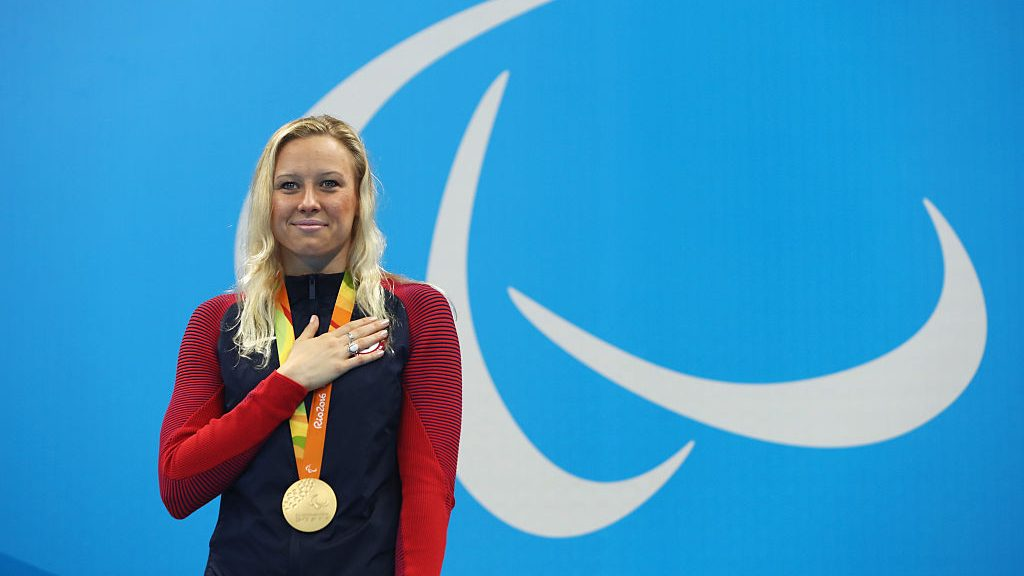 Jessica Long, a 23-time Paralympic swimming medalist, is the star of a Toyota commercial that will air during the Super Bowl.