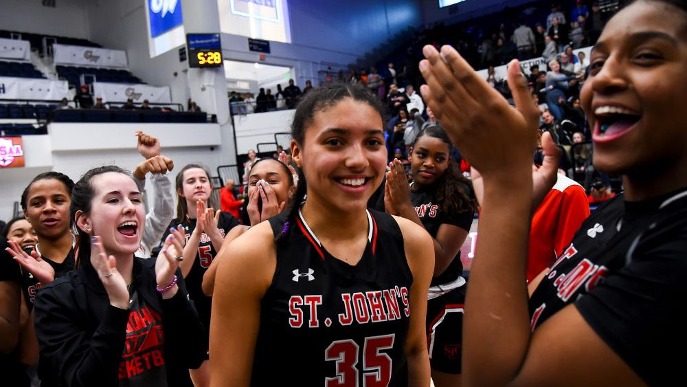 Azzi Fudd - pictured in 2020 - is the 2021 Morgan Wootten Players of the Year