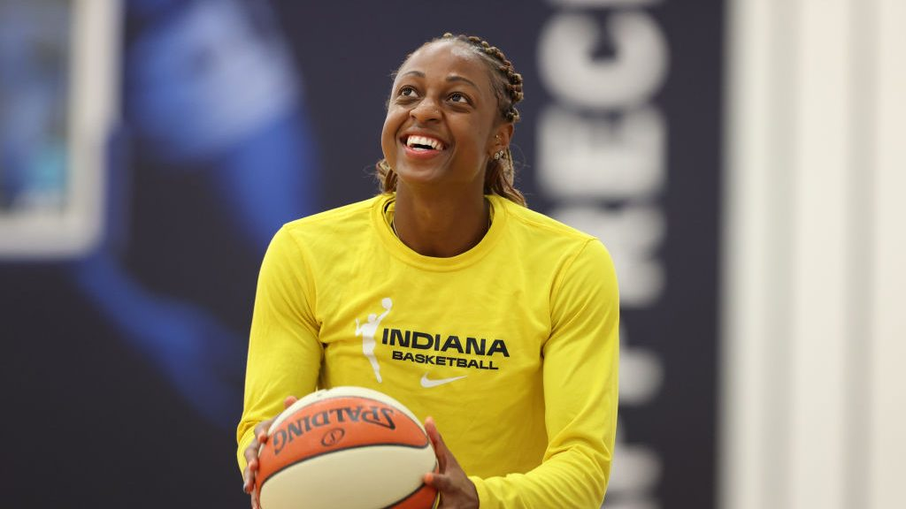 WNBA Player Tiffany Mitchell of the Indiana Fever