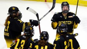 The Boston Pride defeated the Minnesota Whitecaps to win the 2021 NWHL Isobel Cup