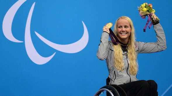 Mallory Weggemann at the 2012 London Paralympics