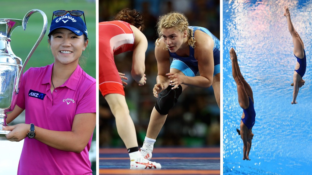 Lydia Ko, Helen Maroulis, and Sarah Bacon and Kassidy Cook