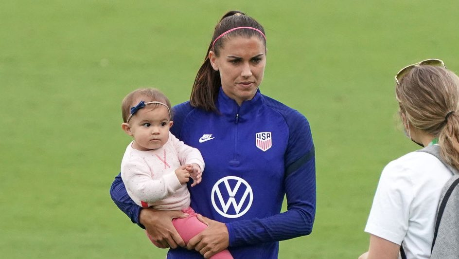 US soccer player Alex Morgan and her daughter Charlie