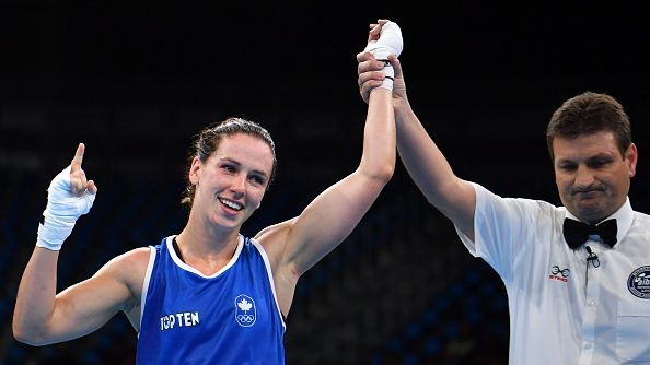 Canadian boxer Mandy Bujold at the 2016 Rio Olympics