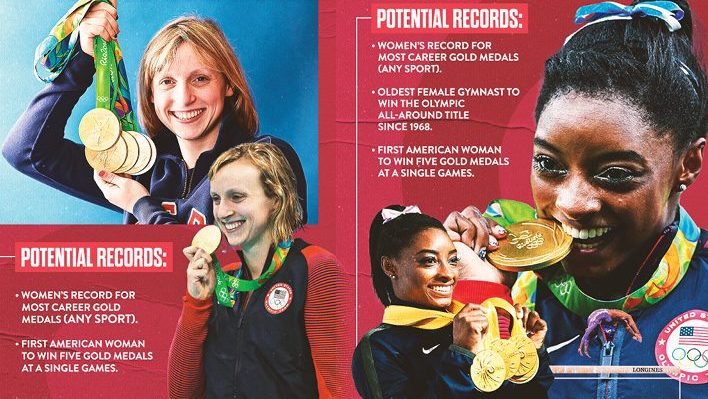 Simone Biles and Katie Ledecky can make history at the Tokyo Olympics