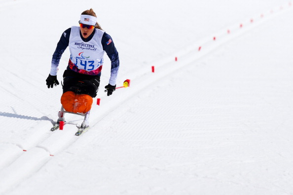 Oksana Masters of the United States competes in the Women's Cross Country 5km - Sitting at the 2014 Sochi Paralympic Winter Games