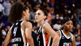 WNBA Finals: Diana Taurasi showed why she is the leading scorer in league history, delivering eight of her 20 points in overtime as the Mercury beat the Chicago Sky 91-86 on Wednesday